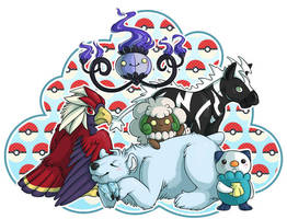 My 5th Gen Pokemon Team by Sharkchel