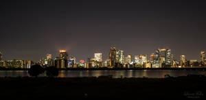 skyline of Osaka by LunaFeles