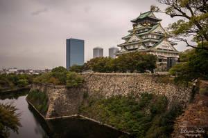 Osaka Castle by LunaFeles