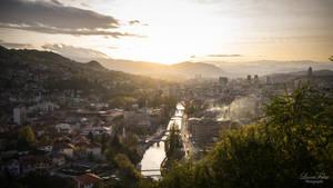 sunset in Sarajevo by LunaFeles