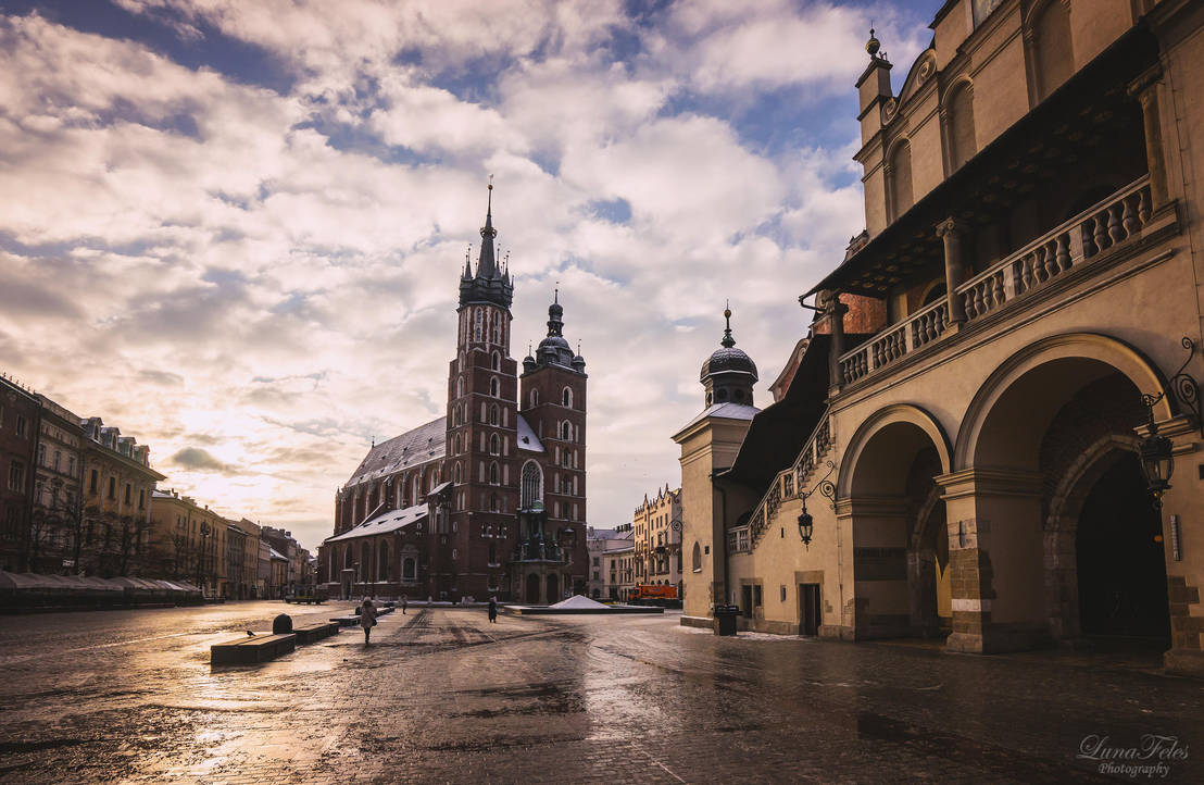 Krakow in the morning by LunaFeles