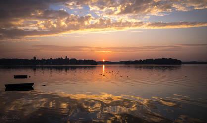 sunrise - Ploener See by LunaFeles