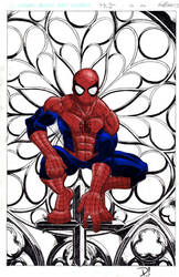 Spider-Man Perched Color WIP by spidertour02