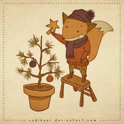 Christmas Fox by CodiBear