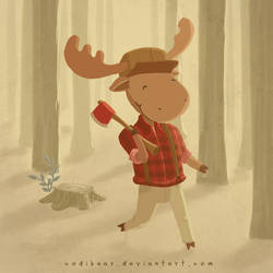 Lumberjack Moose by CodiBear