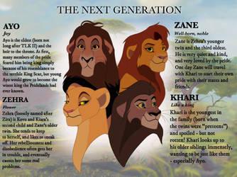The Next Generation: Kovu and Kiara's Cubs by JaeTaz