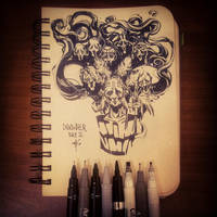 Inktober Day2 by SillyJellie