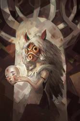 Princess Mononoke by SillyJellie