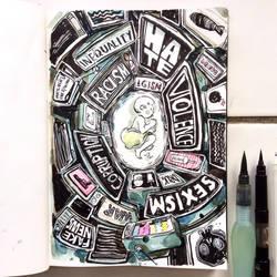 INKtober day3 | Poison. by SillyJellie