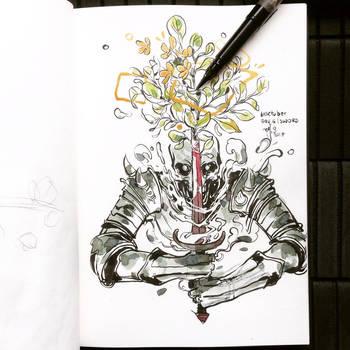 INKtober day6| sword. by SillyJellie