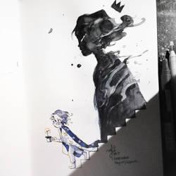 INKtober Day10   Gigantic. by SillyJellie
