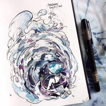 INKtober day 19| cloud. by SillyJellie
