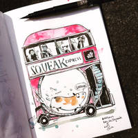 INKtober day 26 | Squeak. by SillyJellie