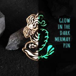 Glow in the dark Mermay enamel pin by SillyJellie