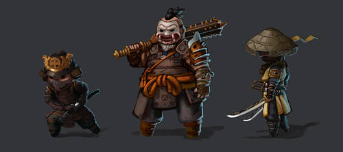 For Honor | Orochi, Shugoki, Aramusha by L3monJuic3