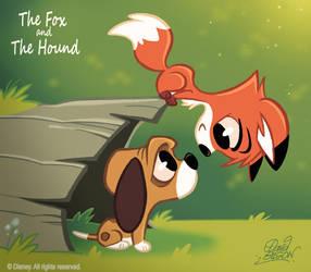 50 Chibis Disney : Fox n Hound by princekido