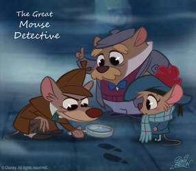 50 Chibis Disney : the Great Mouse Detective by princekido