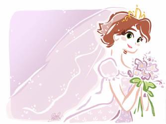 Princess Rapunzel Bride by princekido