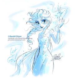 Elsa, Disney's Frozen sketch by princekido