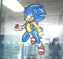 Sonic painting by jayfoxfire