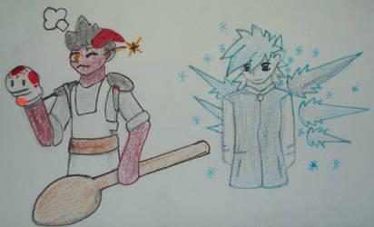 Benjam and Ice Bird Boy by DragonCatSongArt