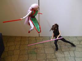 Wire-Fu + Straw Sabers 2 by iwahoshi