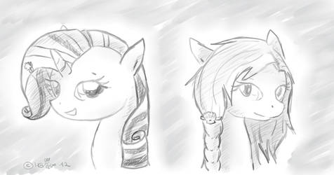 Us Girls_Shelly and Pearly by Pearlpelt-Shadow