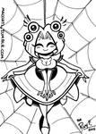 INKTOBER 08 Arachne by FlintofMother3