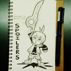INKTOBER 24 SPOILERS by FlintofMother3