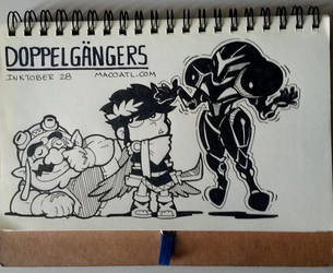 INKTOBER 28 DOPPELGANGERS by FlintofMother3