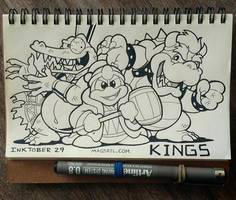 INKTOBER 29 KINGS by FlintofMother3