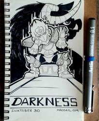 INKTOBER 30 DARKNESS by FlintofMother3