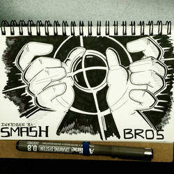 INKTOBER 31 SMASH by FlintofMother3