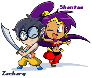 Zachary and Shantae by FlintofMother3