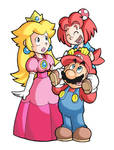 Mario, Peach and Marion... by FlintofMother3