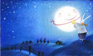 HI,moon by ironland