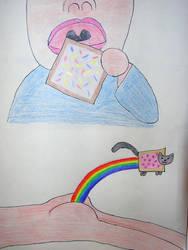 Eat poptarts, poop Nyan Cats by dip-C