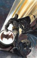 Batman on Gargoyle by ardian-syaf