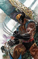 Wolverine in Forest by ardian-syaf