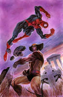 Wolverine VS Spiderman by ardian-syaf