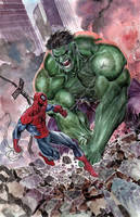 Hulk VS Spiderman by ardian-syaf
