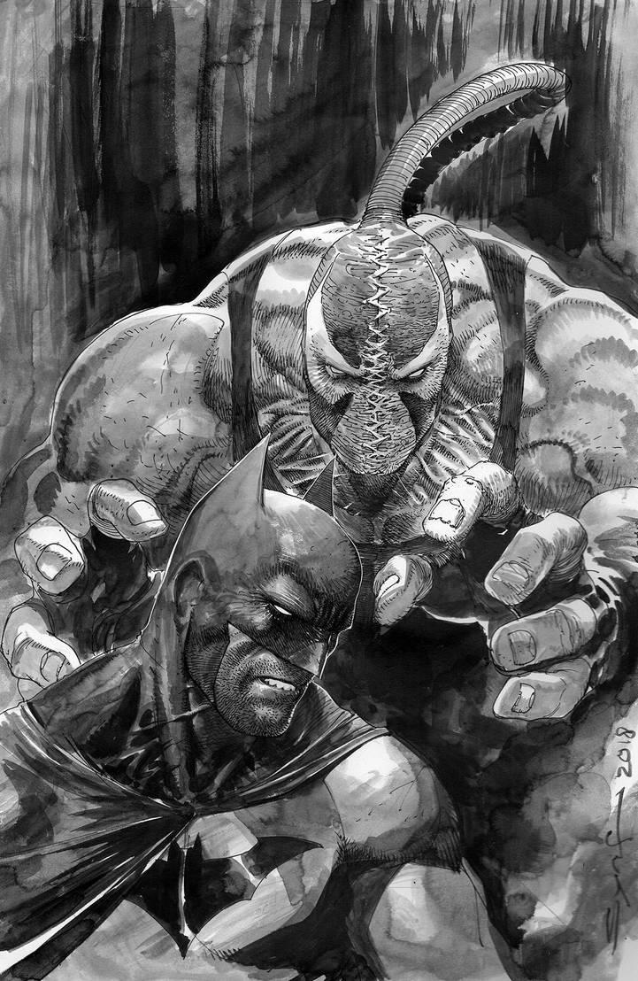 Bat and Bane by ardian-syaf