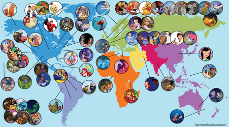 Disney Map by theantilove