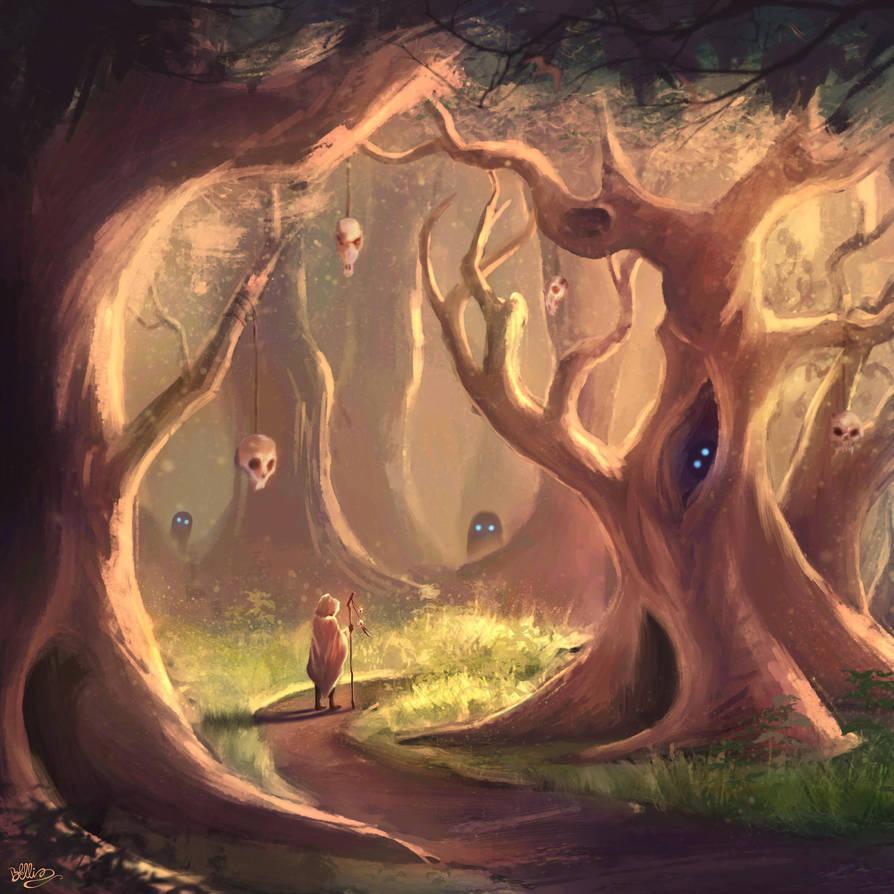 The Haunted Grove by Brandon-Ellis