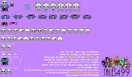 Undertale Colored Battle Sprites Sans By Tales499 On Deviantart