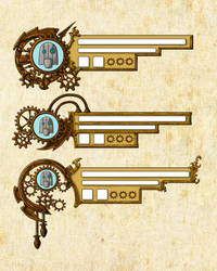 Steampunk HUD Design by EmberRabbit
