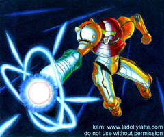 Metroid - Samus charge by kamladolly