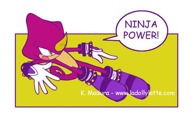 ninja power colored by kamladolly