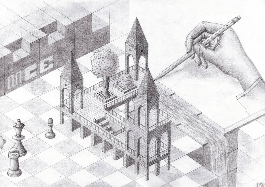 Tribut an MC Escher by ewz-Hawkwing