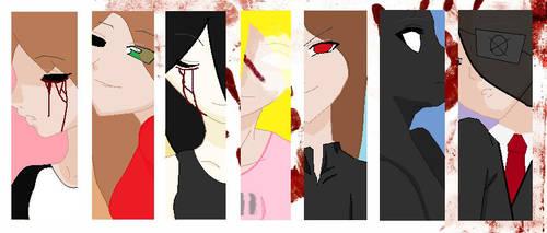 Creepypasta OC Girls by BloodyBrianna